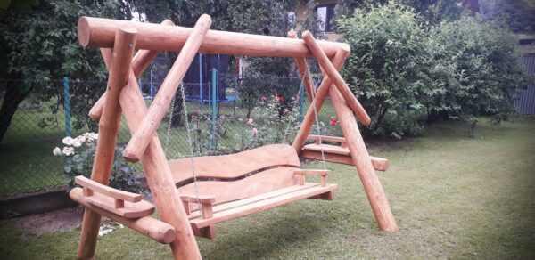 meble ogrodowe drewniane, huśtawki z bali, drewniane place zabaw, meble ogrodowe drewniane 06