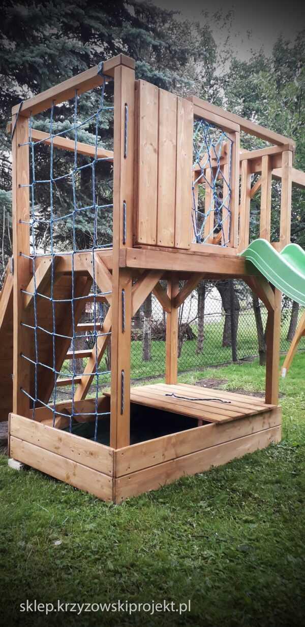 plac zabaw, meble ogrodowe, domek dla dzieci, zjeżdżalnia, ślizg, ścianka wspinaczkowa, huśtawka dla dzieci, nowoczesny plac zabaw drewniany 02