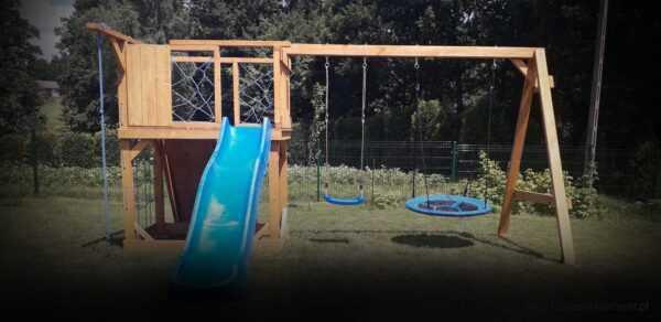 plac zabaw, meble ogrodowe, domek dla dzieci, zjeżdżalnia, ślizg, ścianka wspinaczkowa, huśtawka dla dzieci, nowoczesny plac zabaw drewniany 03