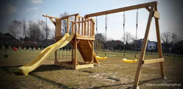plac zabaw, meble ogrodowe, domek dla dzieci, zjeżdżalnia, ślizg, ścianka wspinaczkowa, huśtawka dla dzieci, nowoczesny plac zabaw drewniany 05