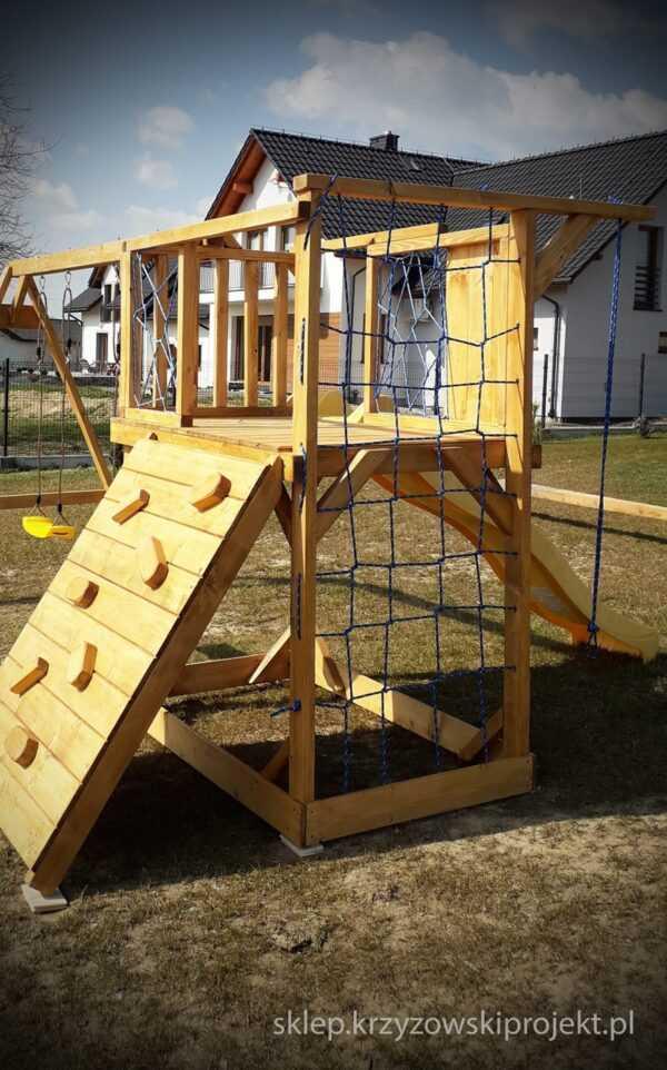 plac zabaw, meble ogrodowe, domek dla dzieci, zjeżdżalnia, ślizg, ścianka wspinaczkowa, huśtawka dla dzieci, nowoczesny plac zabaw drewniany 06