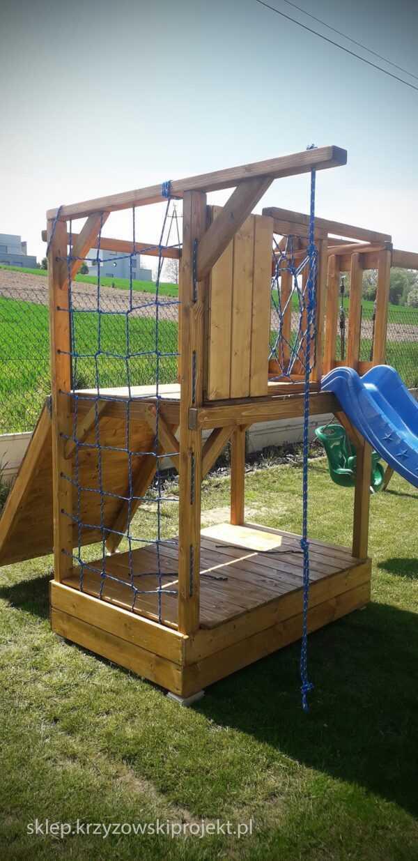 plac zabaw, meble ogrodowe, domek dla dzieci, zjeżdżalnia, ślizg, ścianka wspinaczkowa, huśtawka dla dzieci, nowoczesny plac zabaw drewniany 07