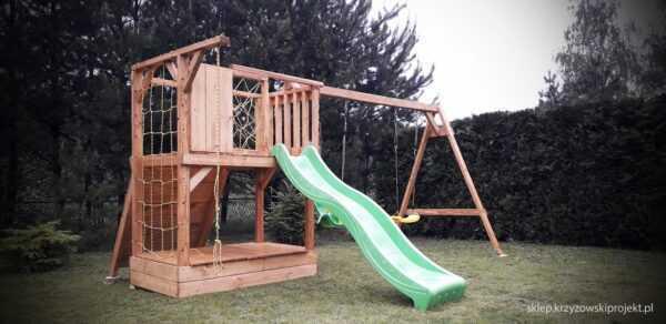 plac zabaw, meble ogrodowe, domek dla dzieci, zjeżdżalnia, ślizg, ścianka wspinaczkowa, huśtawka dla dzieci, nowoczesny plac zabaw drewniany 10