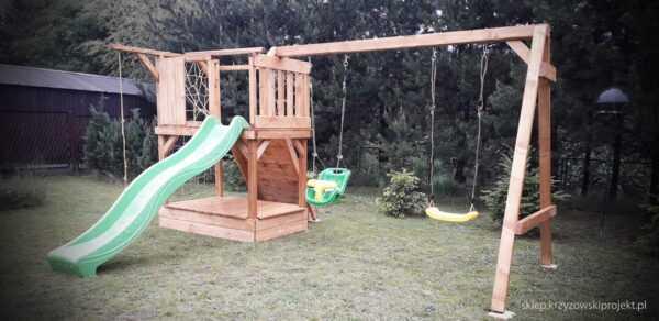 plac zabaw, meble ogrodowe, domek dla dzieci, zjeżdżalnia, ślizg, ścianka wspinaczkowa, huśtawka dla dzieci, nowoczesny plac zabaw drewniany 11
