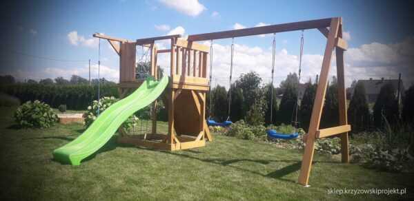 plac zabaw, meble ogrodowe, domek dla dzieci, zjeżdżalnia, ślizg, ścianka wspinaczkowa, huśtawka dla dzieci, nowoczesny plac zabaw drewniany 12