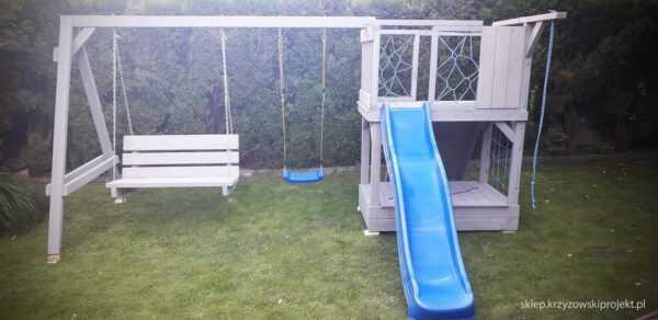 plac zabaw, meble ogrodowe, domek dla dzieci, zjeżdżalnia, ślizg, ścianka wspinaczkowa, huśtawka dla dzieci, nowoczesny plac zabaw drewniany 17