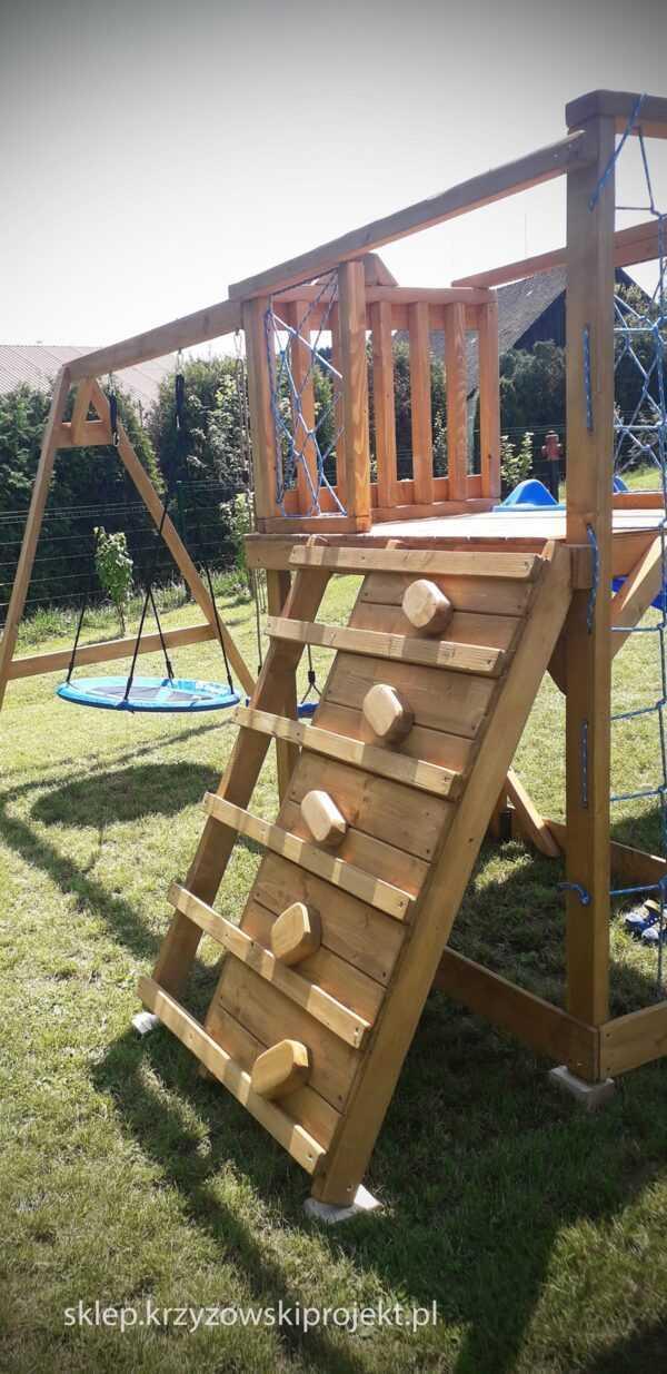 plac zabaw, meble ogrodowe, domek dla dzieci, zjeżdżalnia, ślizg, ścianka wspinaczkowa, huśtawka dla dzieci, nowoczesny plac zabaw drewniany 18
