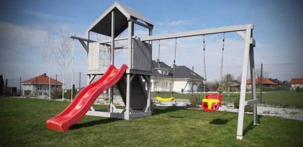 plac zabaw, meble ogrodowe, domek dla dzieci, zjeżdżalnia, ślizg, ścianka wspinaczkowa, huśtawka dla dzieci, nowoczesny plac zabaw, drewniany plac zabaw z dachem 05