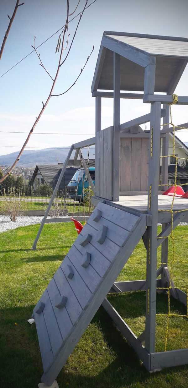 plac zabaw, meble ogrodowe, domek dla dzieci, zjeżdżalnia, ślizg, ścianka wspinaczkowa, huśtawka dla dzieci, nowoczesny plac zabaw, drewniany plac zabaw z dachem 10