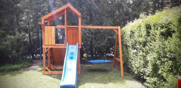 plac zabaw, meble ogrodowe, domek dla dzieci, zjeżdżalnia, ślizg, ścianka wspinaczkowa, huśtawka dla dzieci, nowoczesny plac zabaw, drewniany plac zabaw z dachem 11